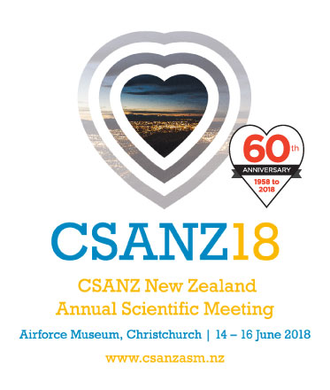 CSANZ ASM 18  - New Zealand Annual Scientific Meeting 2018